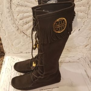 Tory Burch Limited Edition Knee High Moccasins